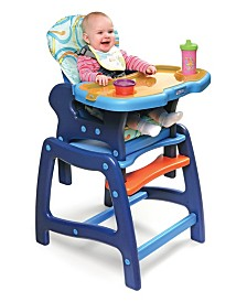 badger Basket Baby Boy Envee Baby High Chair with Playtable Conversion