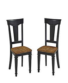 Home Styles Americana Black Dining Chair, Pair