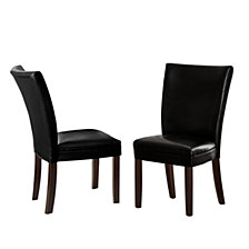Matinee Leather Dining Chair (Set Of 2), Quick Ship