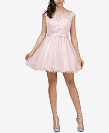 Dancing Queen Juniors' Embellished Fit & Flare Dress