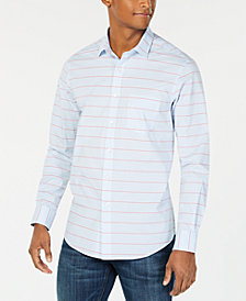 Club Room Men's Horizontal Stripe Shirt, Created for Macy's