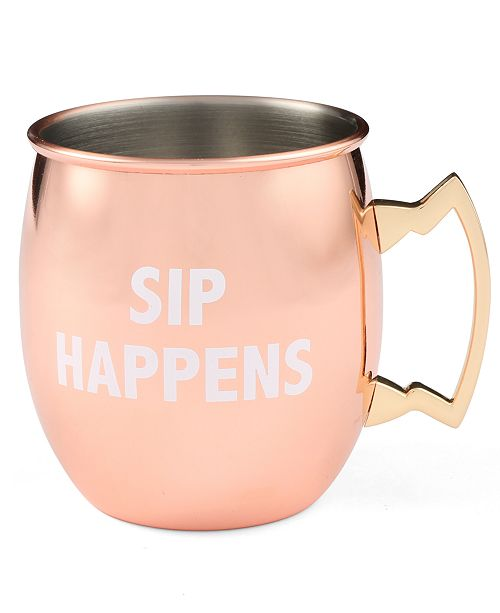 Thirstystone CLOSEOUT! Sip Happens Copper Printed Moscow Mule Mug