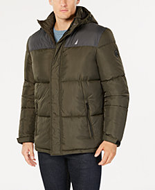 Nautica Men's Colorblocked Hooded Parka, Created for Macy's