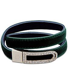 Lauren Ralph Lauren Pavé Velvet Wrap Bracelet