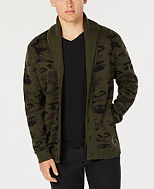 American Rag Men's Camouflage Shawl-Collar Cardigan, Created for Macy's