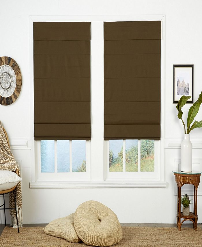 The Cordless Collection - Insulating Cordless Roman Shade, Chocolate, 36x72