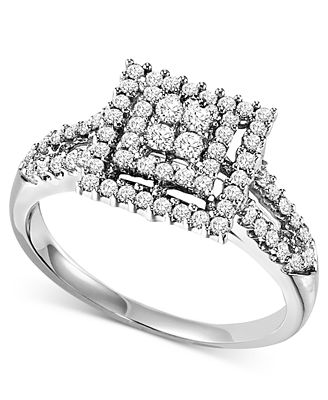 Diamond Engagement Ring in Sterling Silver (1/2 ct. t.w.)