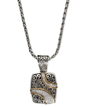 Balissima by Effy Diamond Ribbon Pendant (1/4 ct. t.w.) in 18k Gold and Sterling Silver -  Effy Collection