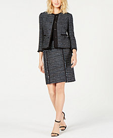 Anne Klein Tweed Jacket & Pencil Skirt, Created for Macy's
