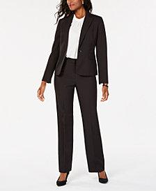 Le Suit Petite Pinstriped Pantsuit