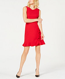 Nine West Sleeveless Ruffled Sheath Dress