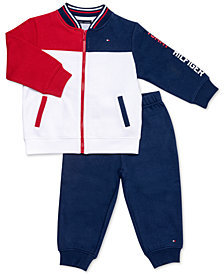 Tommy Hilfiger Baby Boys 2-Pc. Colorblocked Fleece Jacket & Jogger Pants Set