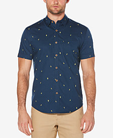 Cubavera Men's Big & Tall Mini Avocado Print Shirt