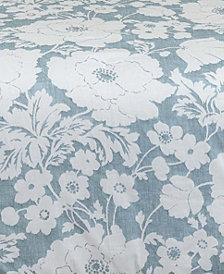 Chambray Floral Window Pair Panels