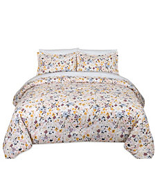 Floral Splatter Full/Queen Comforter Set