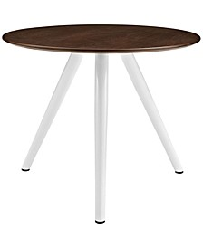 "Lippa 36"" Round Walnut Dining Table with Tripod Base"