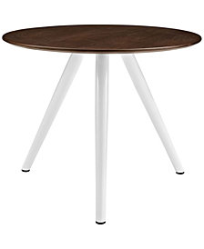 "Modway Lippa 36"" Round Walnut Dining Table with Tripod Base"