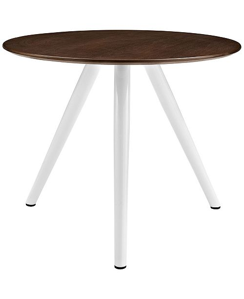 Modway Lippa 36 Round Walnut Dining Table With Tripod Base