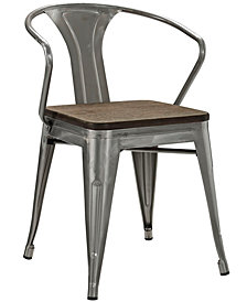 Modway Promenade Bamboo Dining Chair