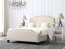 Caroline Upholstered Full Bed with Nailhead Trim