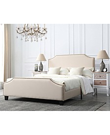 Caroline Upholstered Queen Bed with Nailhead Trim