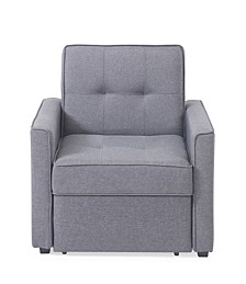 Chandler Gray Convertible Arm Chair Bed
