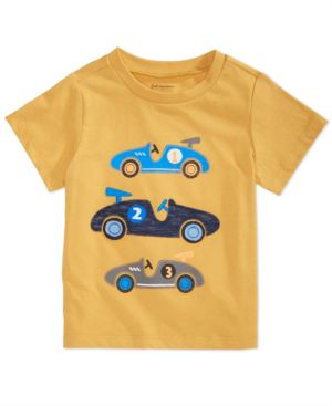 First Impressions Baby Boys Race Car Graphic Cotton T-Shirt, Created for Macy's 6764378