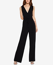 Surplice Open-Back Jumpsuit