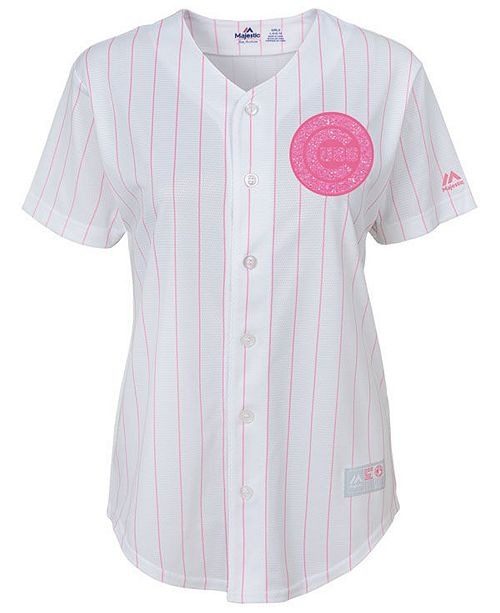 detailed look 5b2d1 55eb2 Majestic Chicago Cubs Cool Base Pink Glitter Jersey, Toddler ...