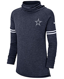 Nike Women's Dallas Cowboys Funnel Neck Long Sleeve T-Shirt
