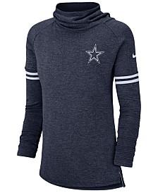 Nike Women's Dallas Cowboys Funnel Neck Long Sleeve T-Shirt