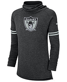 Nike Women's Oakland Raiders Funnel Neck Long Sleeve T-Shirt