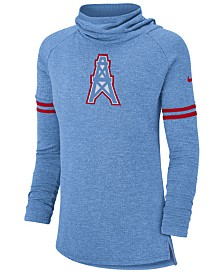 Nike Women's Tennessee Titans Funnel Neck Long Sleeve T-Shirt