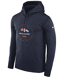 Nike Men's Denver Broncos Property Of Therma Hoodie