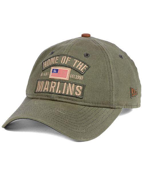promo code 5927f f6558 ... New Era Miami Marlins Home of the Team 9TWENTY Strapback Cap ...
