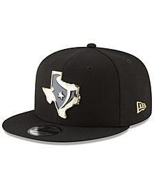New Era Houston Texans Gold Stated 9FIFTY Snapback Cap