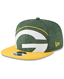 New Era Green Bay Packers Oversized Laser Cut 9FIFTY Snapback Cap