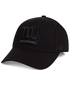 New York Giants Black & Black MVP Strapback Cap