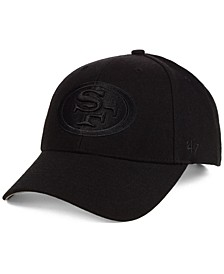 San Francisco 49ers Black & Black MVP Strapback Cap