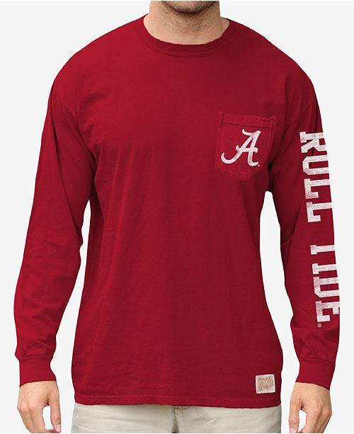 8255beded621 Retro Brand Men s Alabama Crimson Tide Heavy Weight Long Sleeve Pocket T- Shirt