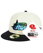 outlet store f1060 fb606 New Era Tampa Bay Rays Retro Stock 59FIFTY FITTED Cap