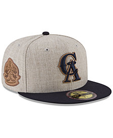 New Era Los Angeles Angels Leather Ultimate Patch Collection 59FIFTY FITTED Cap