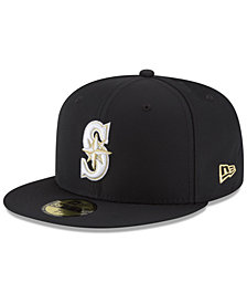 New Era Seattle Mariners Prolite Gold Out 59FIFTY FITTED Cap