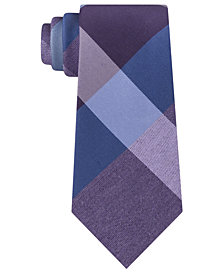 Kenneth Cole Reaction Men's Onyx Plaid Slim Tie