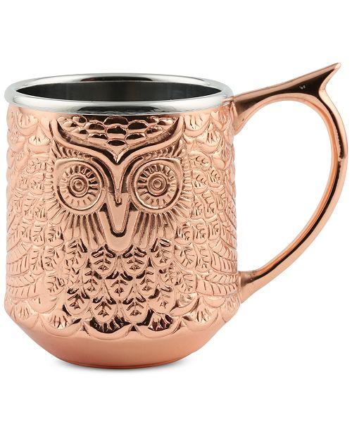 Cambridge CLOSEOUT! Thirstystone  Copper-Plated Owl Mug