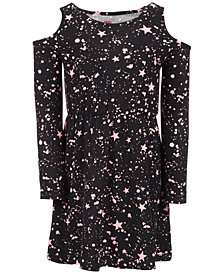 Epic Threads Little Girls Star Splatter Dress, Created for Macy's