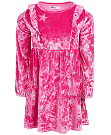 Epic Threads Little Girls Crushed Velvet Glitter Dress, Created for Macy's