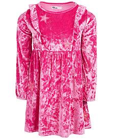 Epic Threads Toddler Girls Crushed Velvet Glitter Dress, Created for Macy's