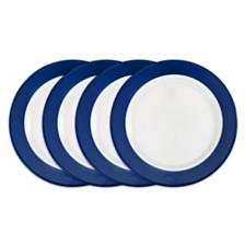 Q Squared Bistro Blue Melamine 4-Pc. Dinner Plate Set