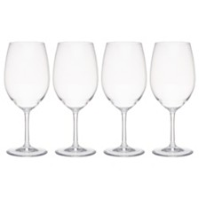 Q Squared Hudson 21 oz Tritan Acrylic 4-Pc. Red Wine Glass Set